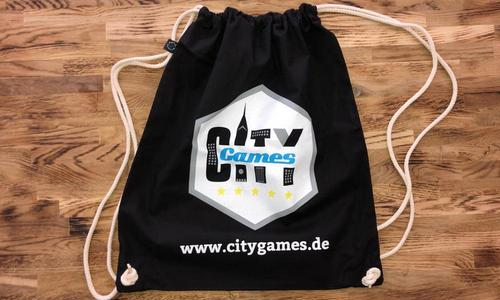 CityGames Hannover Party Sightseeing Tour: unser Sportbeutel als Tourunterstützer